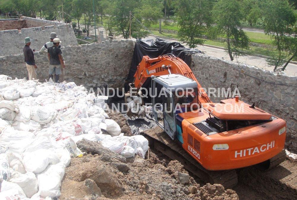 Dokumentasi Proyek Stabilisasi Lereng di Kawasan Industri di Karawang